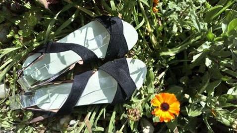 sandales velours